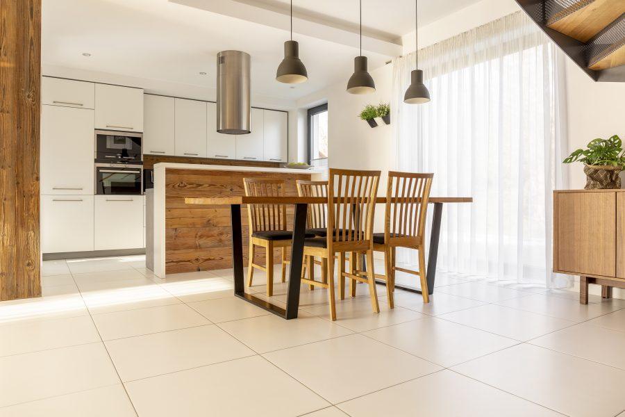 šildomos grindys virtuvėje